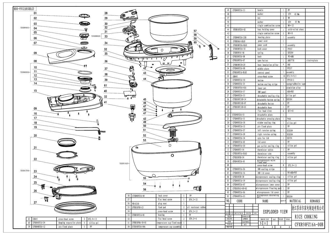 схема мультиварки redmond